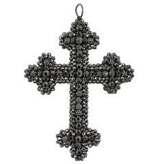 Brilliance of a Georgian Cut Steel Cross