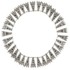 Silver Fringe Necklace by Victoria