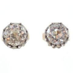 Luxurious Georgian Paste Stud Earrings