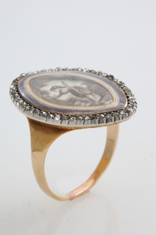 Georgian Love: A Passion Ring In Excellent Condition In Stamford, CT