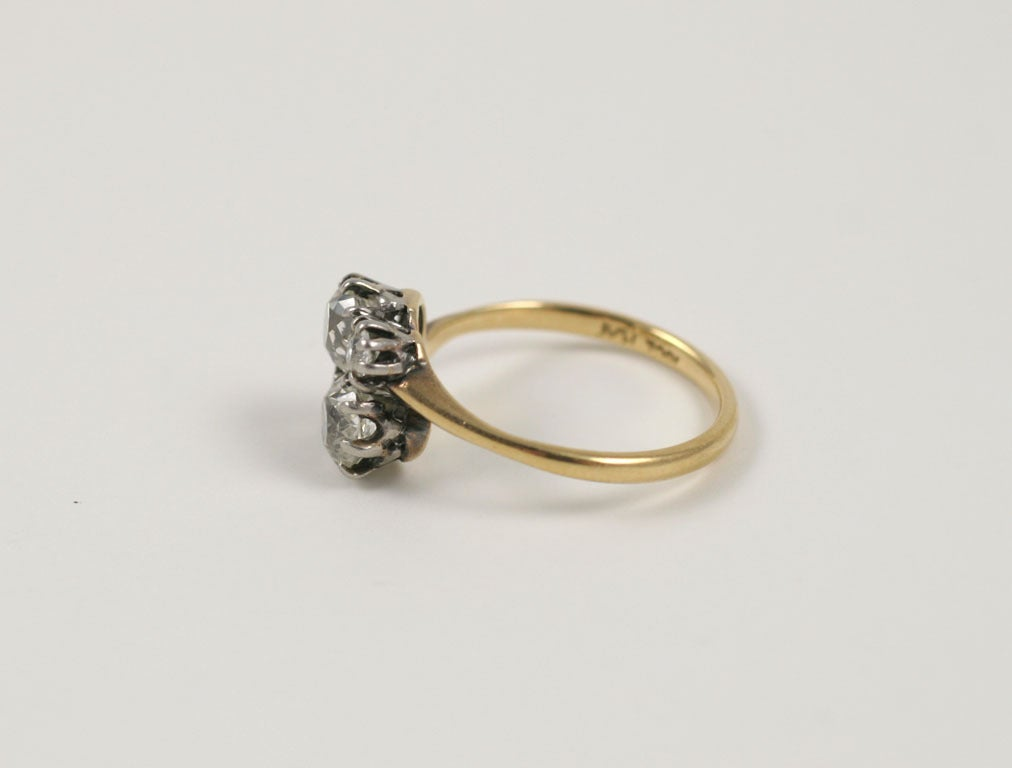 four gold crossover ring at 1stdibs