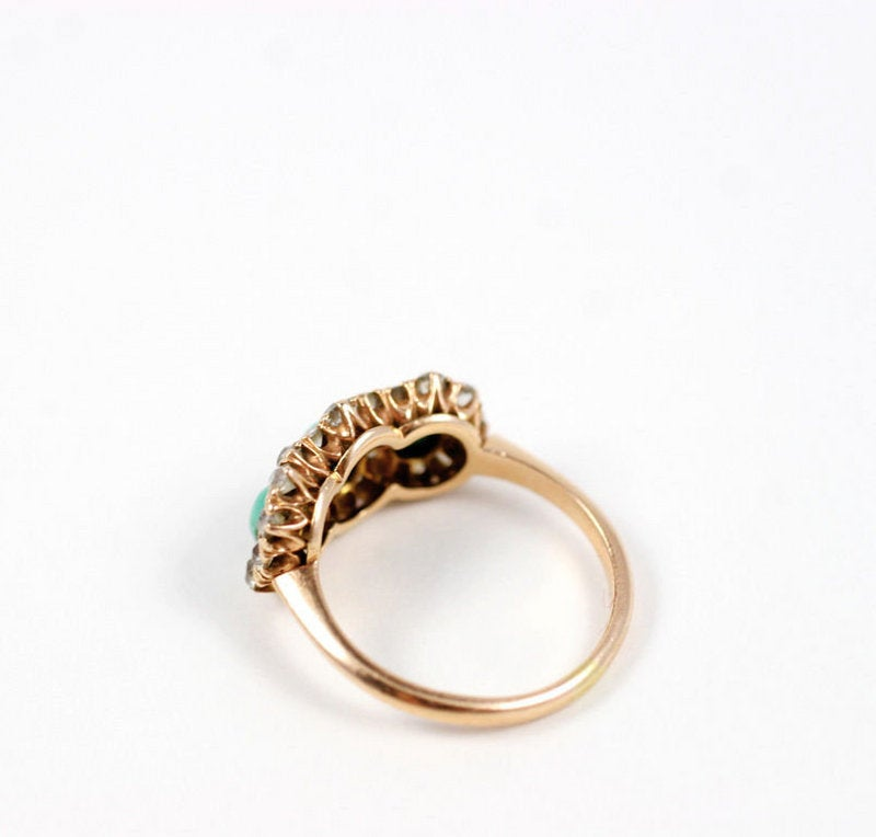 Victorian Turquoise and Diamond Ring 1