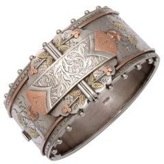 """Think of Me"" Superb Victorian Cuff Bracelet"