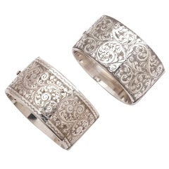 A Sterling Pair Of Silver Cuffs