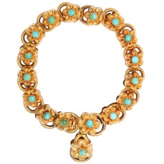 Double the Pleasure Victorian Golden Flower Bracelet