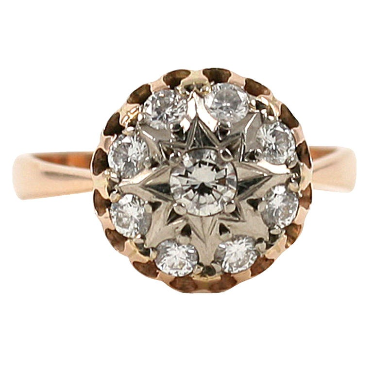 Star Amongst Stars in a Russian Diamond Ring at 1stdibs