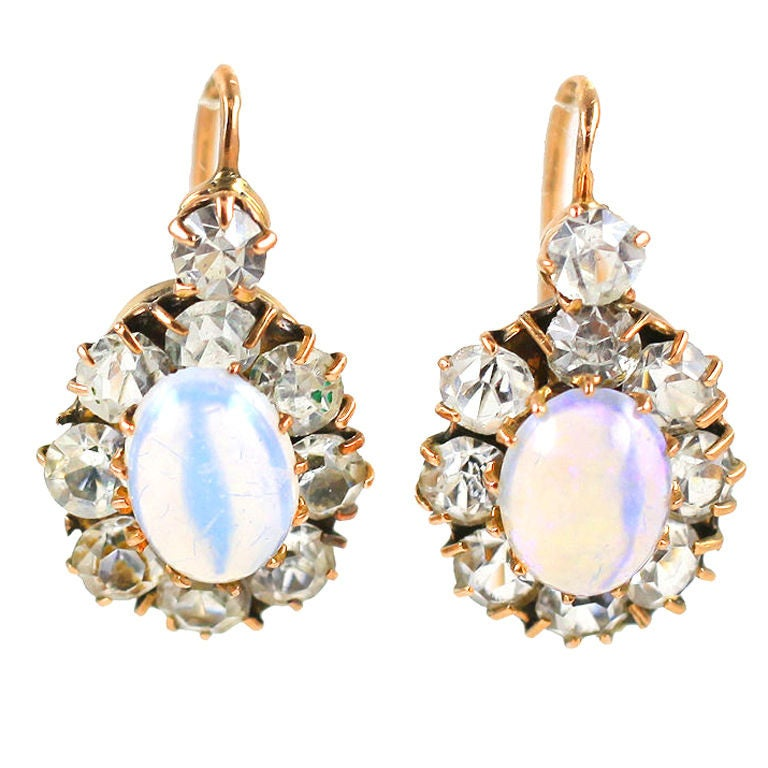 Natural Opal And Paste Victorian Earrnings At 1stdibs