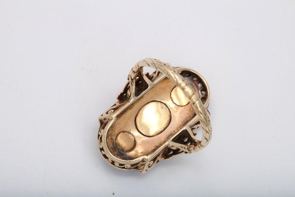 A Striking Beauty: Georgian Three Diamond Ring 4
