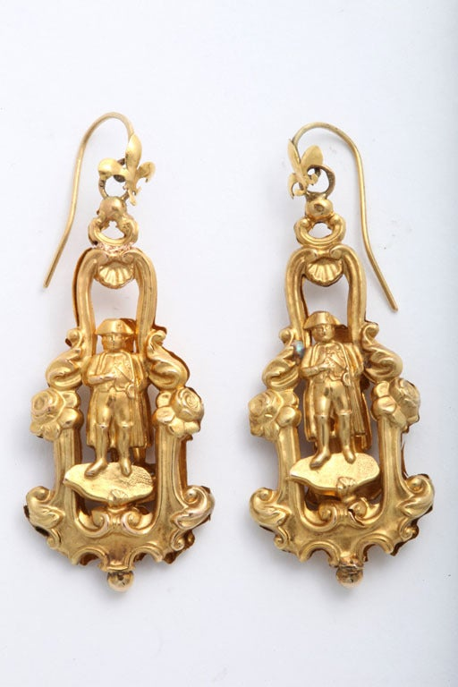 Rare 19century French Chandelier Earrings image 2
