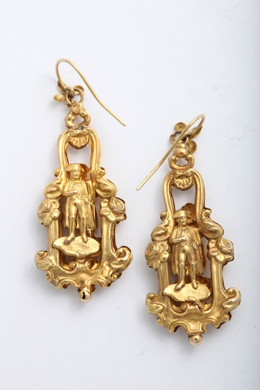 Rare 19century French Chandelier Earrings image 3