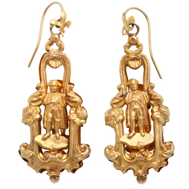 Rare 19century French Chandelier Earrings