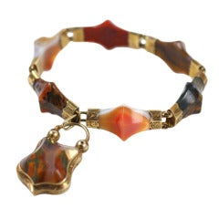 Victorian Scottish Pyramid Agate Bracelet