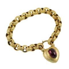 Georgian Bracelet with Heart Padlock