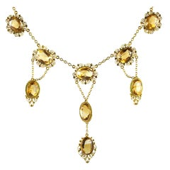 Antique Georgian Period Citrine Necklace