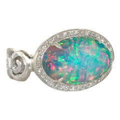 PAMELA FROMAN Opal Fire and Ice 2 Ring