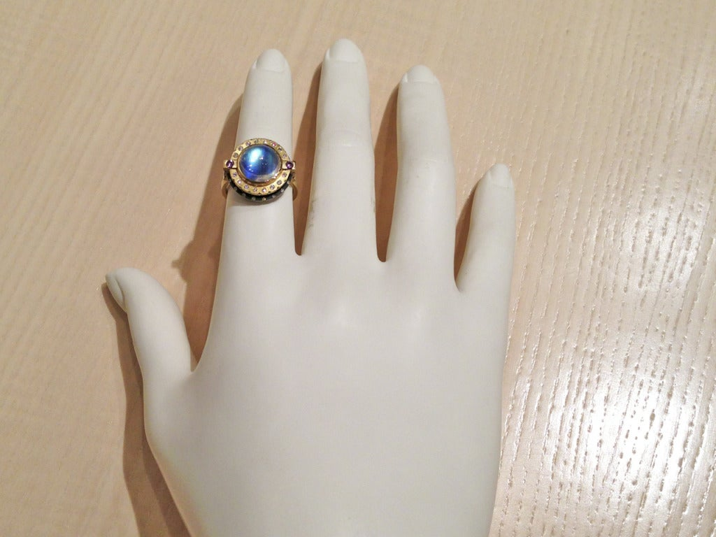 phenomenal galaxy moonstone diamond ring 2