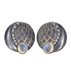 Atelier Zobel Blue Moonstone Diamond Bubble Earrings