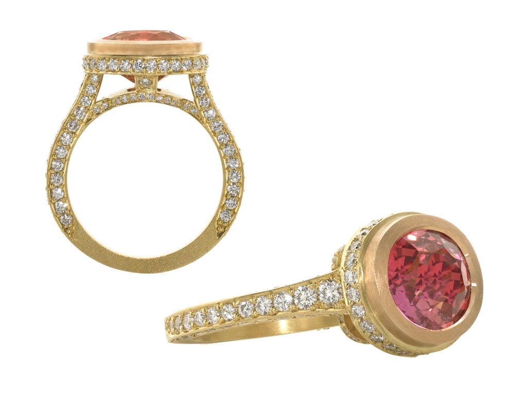 phenomenal pink spinel and ring at 1stdibs