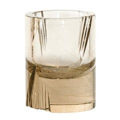 Munsteiner-Cut Rutilated Quartz Shot Glass