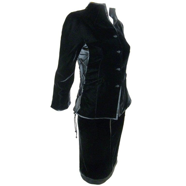 Velvet Skirt Suit 2