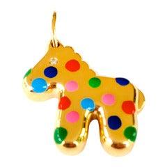 Polka Dot Gold Horse