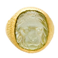 Beryl Lion Head Ring