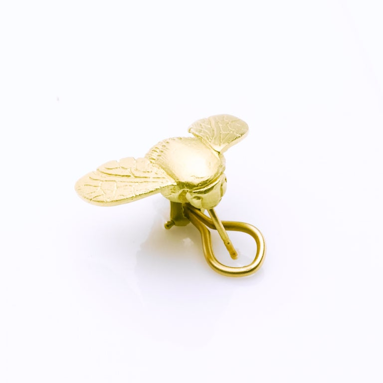 large gold bee earrings for sale at 1stdibs