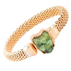 Tourmaline Rose Gold King of Beasts Bracelet