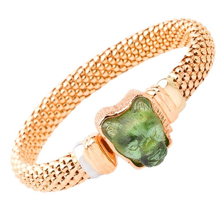 Tourmaline Rose Gold King of Beasts Bracelet 1