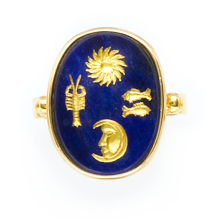 Astrological Lapis RIng 2
