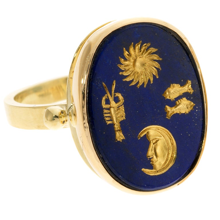 Astrological Lapis RIng 1