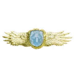 Golden Winged Lion Pin