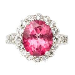 Eternally Yours Pink Tourmaline Diamond Ring
