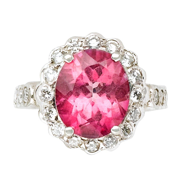 Eternally Yours Pink Tourmaline Diamond Ring