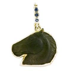 Onyx Horse Head Pendant