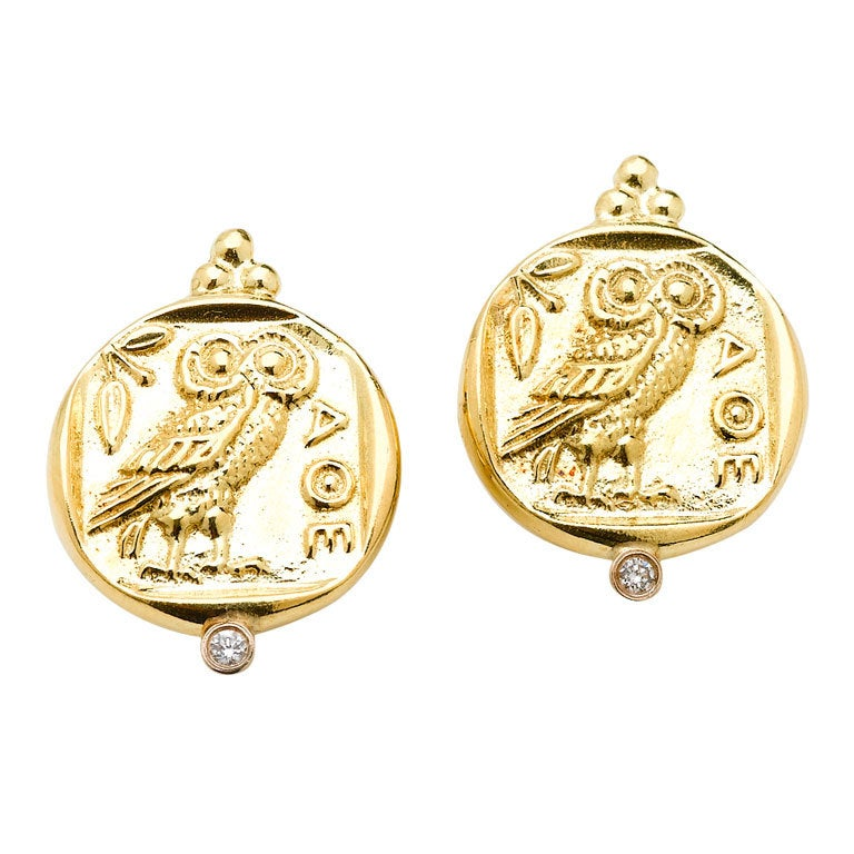 Athena Gold Earrings 1