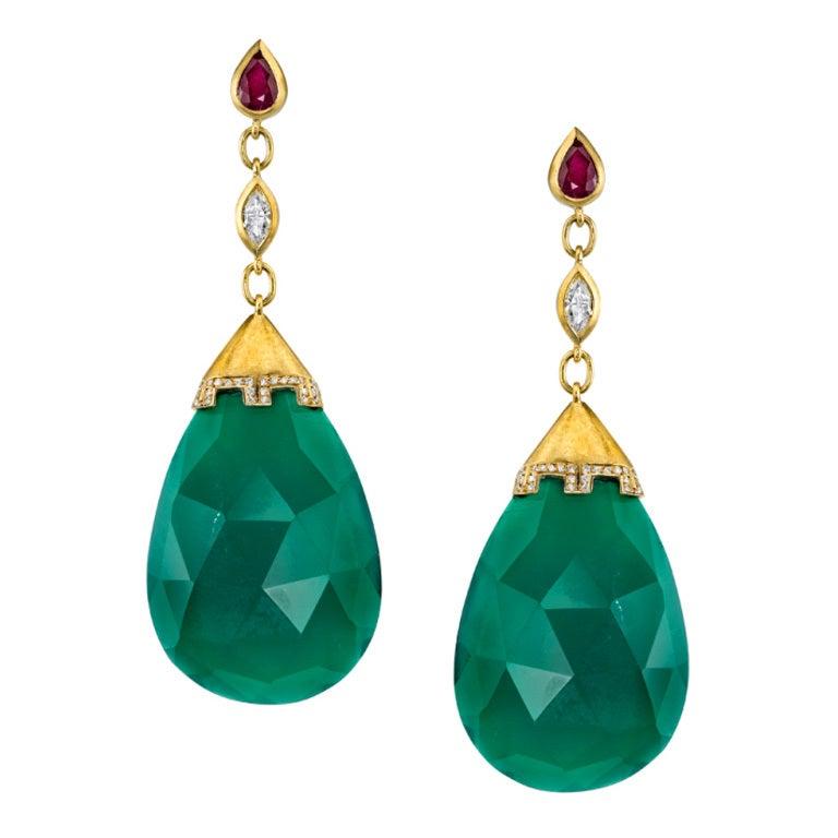 Jade Drop Earrings 1
