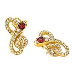 Diamond Serpent Earrings