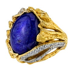 Lapis Egg Ring