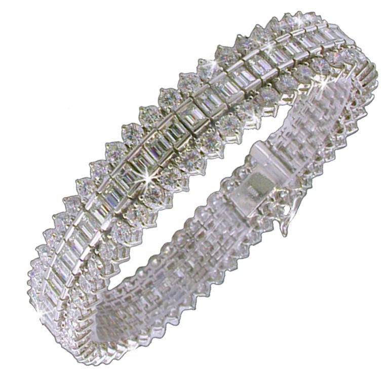 DIAMOND Fancy Tennis Bracelet at 1stdibs