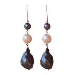 Marina J Black and White Pearl Earrings