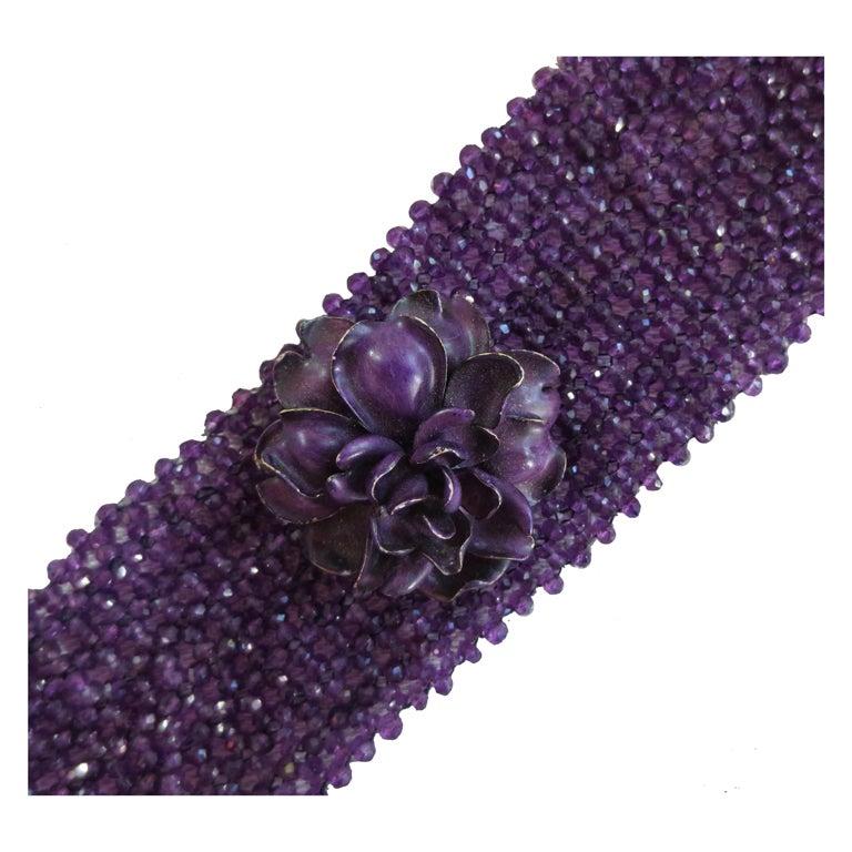 woven amethyst bead bracelet at 1stdibs