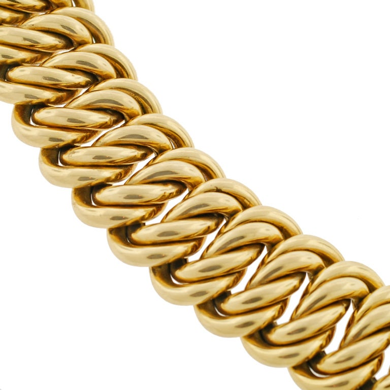 Victorian Gold Chain Link Bracelet image 3
