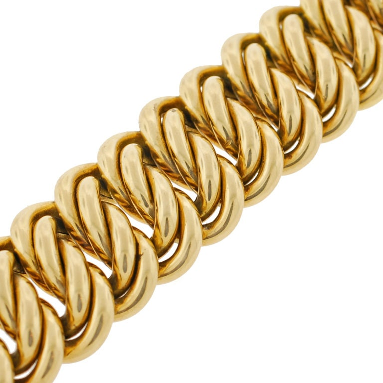 Victorian Gold Chain Link Bracelet image 5