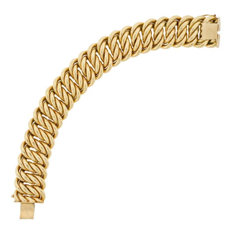 Victorian Gold Chain Link Bracelet image 7