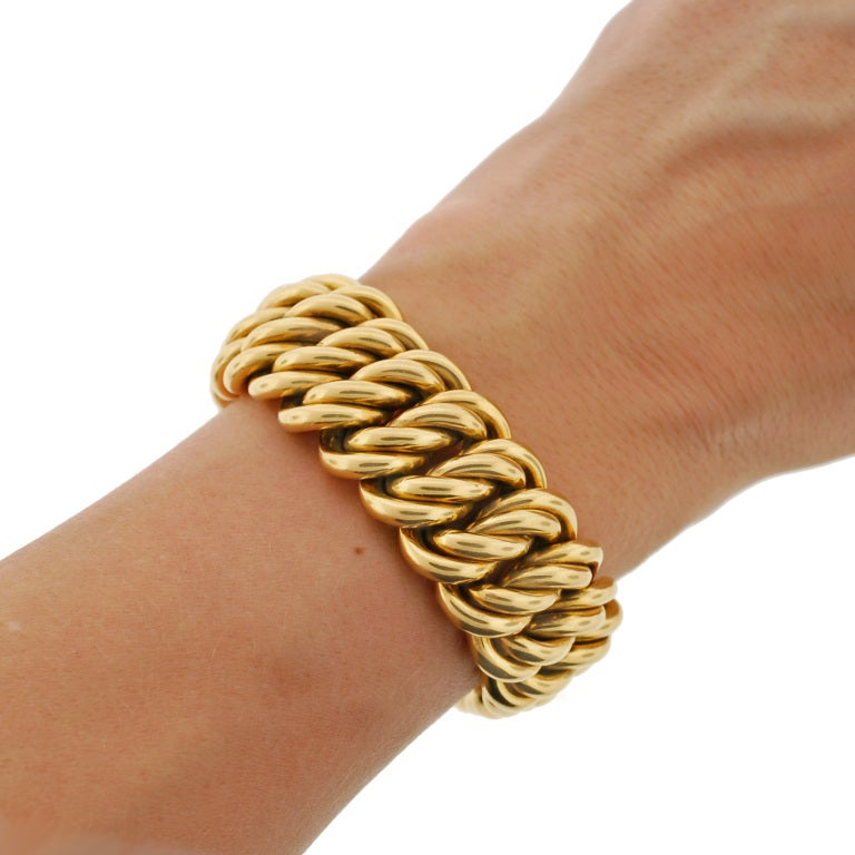 Victorian Gold Chain Link Bracelet image 9