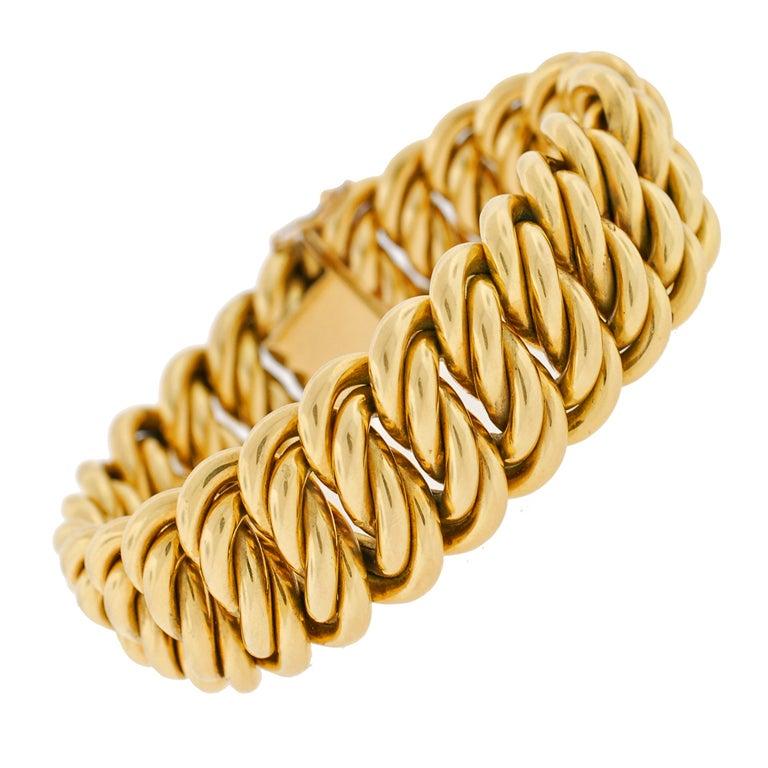 Victorian Gold Chain Link Bracelet