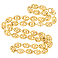 GUCCI Gold Gucci-Link Necklace