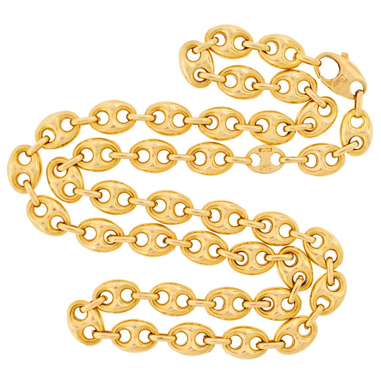 Gucci Gold Gucci Link Necklace At 1stdibs