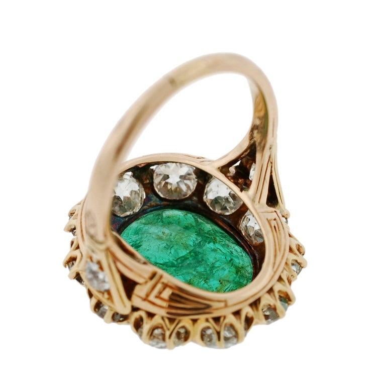 and emerald family crest gold intaglio